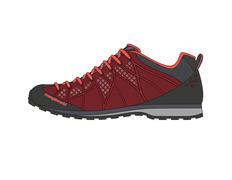 Zapato Trango Bomio Rojo 04D