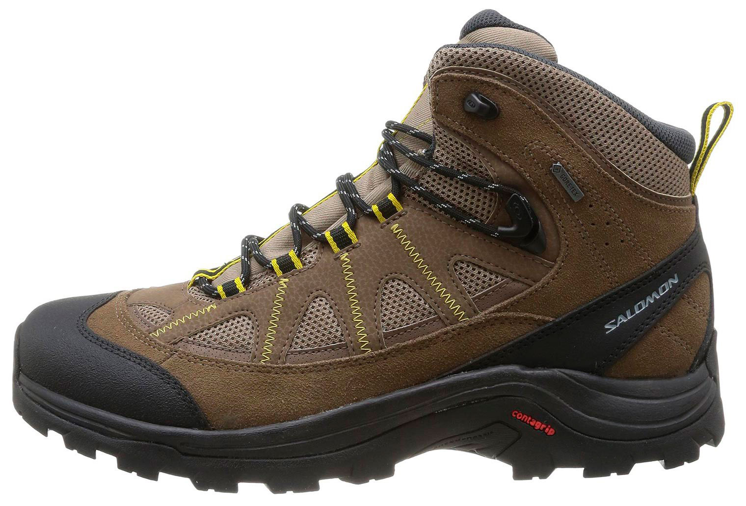 MarrónNegroAmarillo Salomon Authentic Botas GTX LTR J3TFlK1c