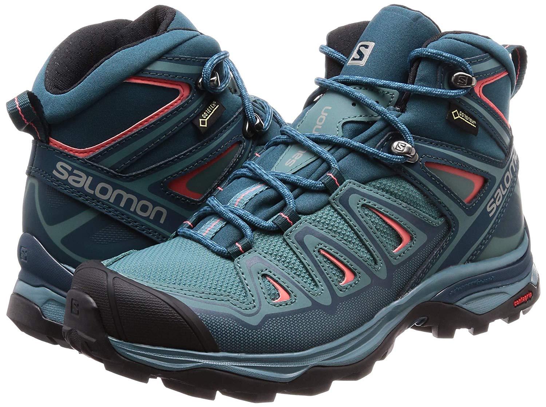Botas Salomon X Ultra 3 Mid GTX W Verde AguaCoral