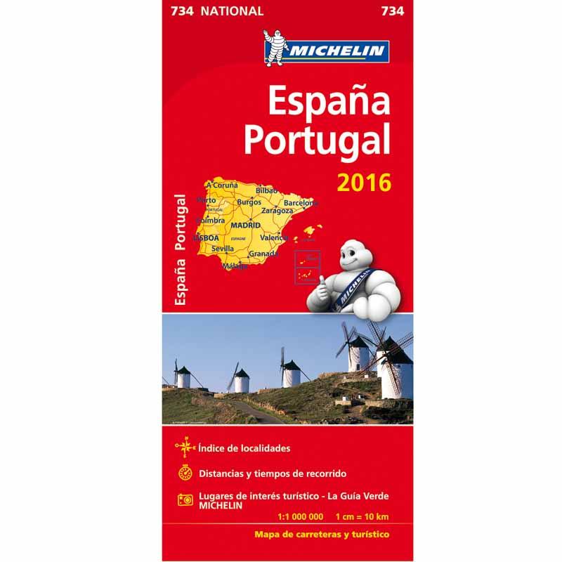 mapa michelin de portugal Mapa Michelín España y Portugal 2017   Peregrinoteca mapa michelin de portugal