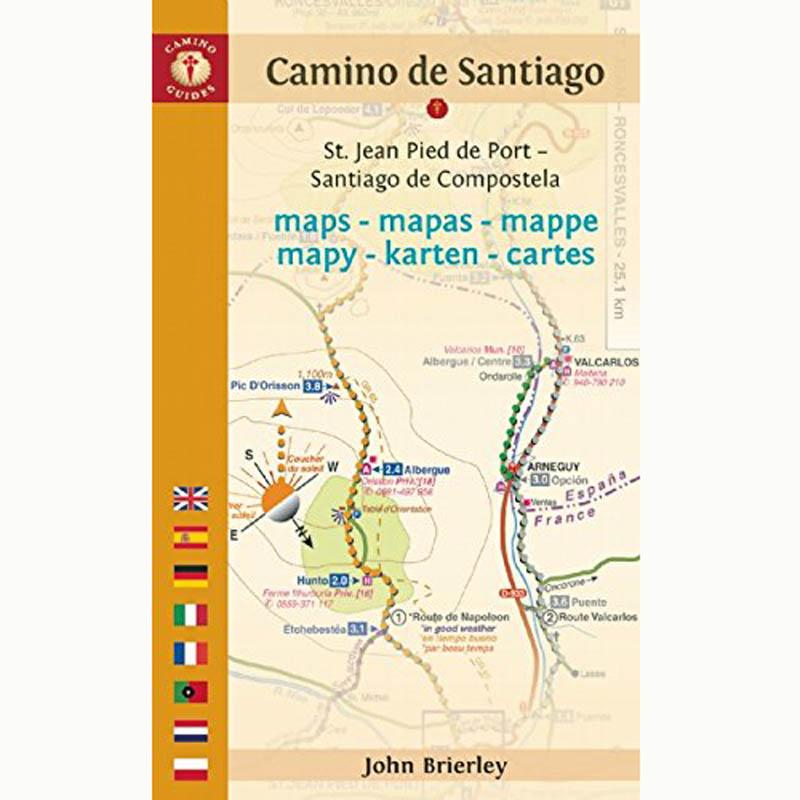 Camino De Santiago Mapa Etapas.Mapas Etapas Del Camino 2017 John Brierley