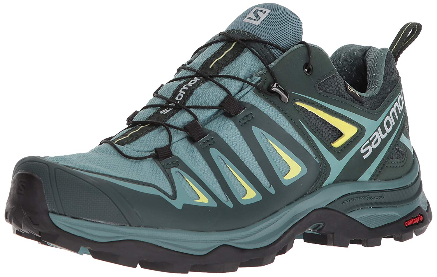 Zapatillas Salomon X Ultra 3 GTX W Verde/Negro/Amarillo