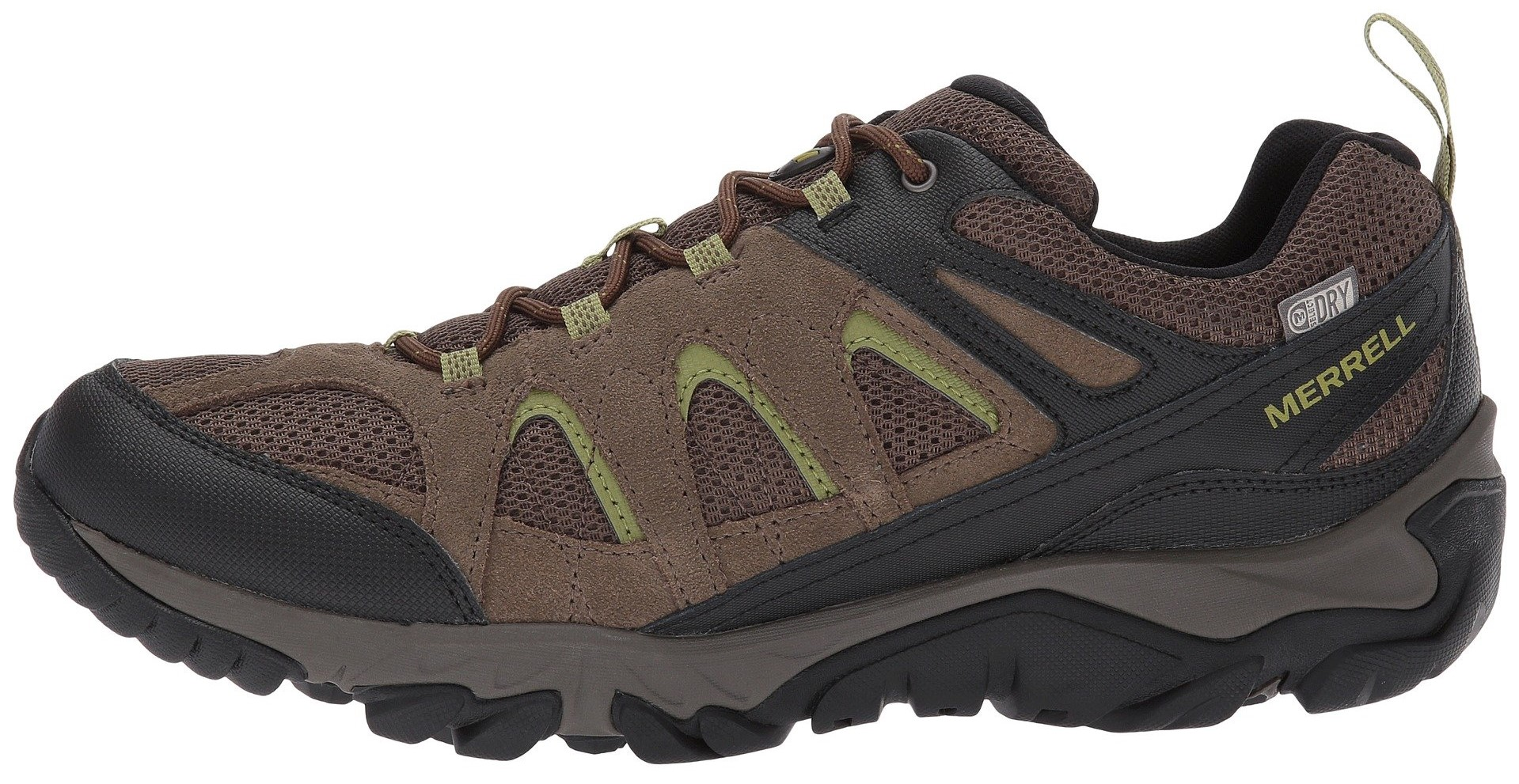 1debbf03438 Zapato Merrell Outmost Vent GTX Marrón/Verde - Peregrinoteca